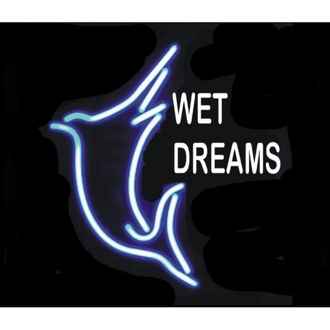 Wet Dreams Neon Home Bar Sign Neon Sign - The Beer Lodge