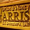 Personalized Harris Wooden Home Bar Sign