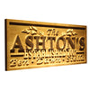 Personalized Ashton's Wooden Home Bar Sign