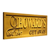 Personalized Howard's Getaway Wooden Home Bar Sign