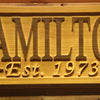 Personalized Hamilton Wooden Home Bar Sign