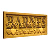 Personalized Barnes Wooden Home Bar Sign