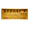 Personalized Cowboys Bar Wooden Home Bar Sign