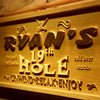 Personalized 19th Hole Wooden Home Bar Sign