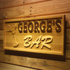 Personalized George's Bar Wooden Home Bar Sign