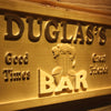 Personalized Douglas's Bar Wooden Home Bar Sign