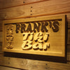 Personalized Frank's Tiki Bar Wooden Home Bar Sign