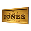 Personalized House of Jones Wooden Home Bar Sign