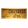 Personalized Chambers PUB Wooden Home Bar Sign