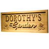 Personalized Dorothy's Garden Wooden Home Bar Sign