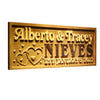 Personalized Alberto & Tracey Nieves Wooden Home Bar Sign