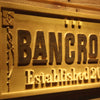Personalized Bancroft Wooden Home Bar Sign