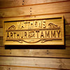 Personalized Couples Name Wooden Home Bar Sign
