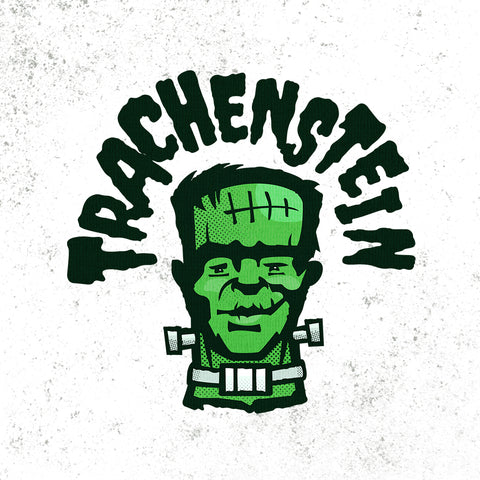Trachenstein a Frankenstein with a trach and HME