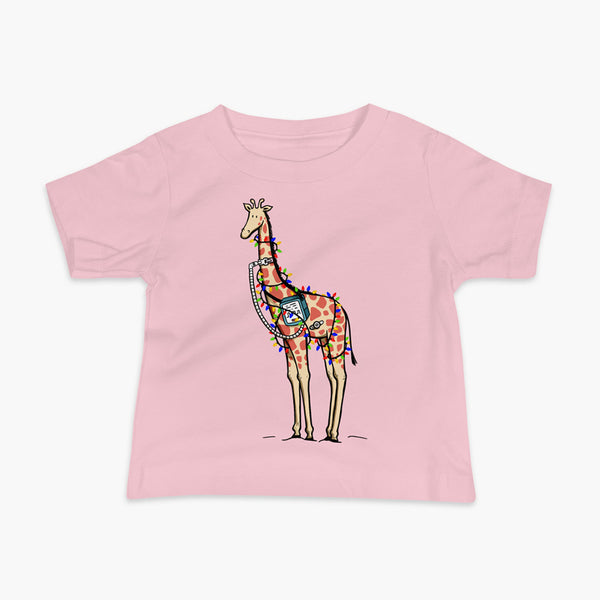 Christmas Giraffe - Infant T-Shirt