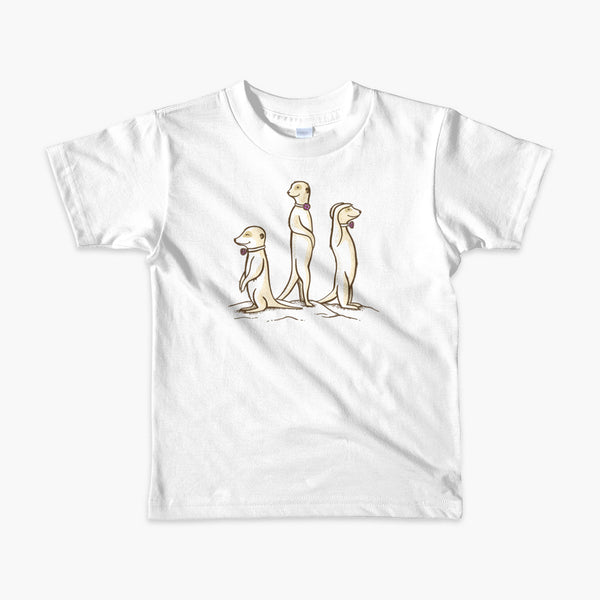 Three Passy Meerkats looking around and smiling with Passy Muir Valves and trach tracheostomy kids white t-shirt for stoma life