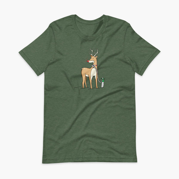 Reindeer with Oxygen  - Adult T-shirt