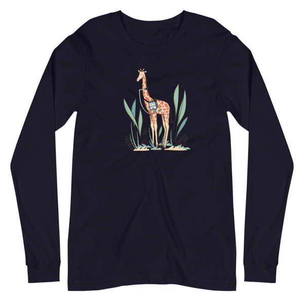 Junie the Giraffe - Adult Unisex Long Sleeve T-Shirt