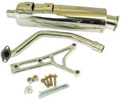 Retro classic GY6 performance exhaust pipe