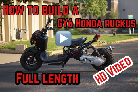 How to build a GY6 Honda Ruckus FULL VIDEO