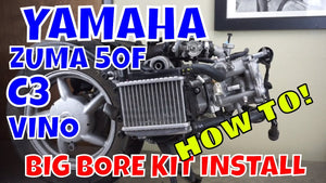 How to install a big bore kit on a Yamaha C3, Zuma 50F and Vino  50 4T FULL LENGTH VIDEO