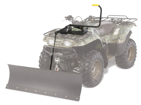 Complete ATV snow plow kit with manual lift