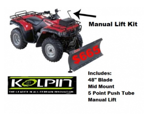 Honda Rancher Complete ATV Snow Plow With Manual Lift