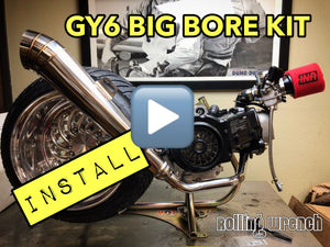 How to install a GY6 big bore kit FULL LENGTH HD VIDEO
