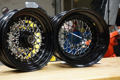 Honda Ruckus GY6 custom billet wheels