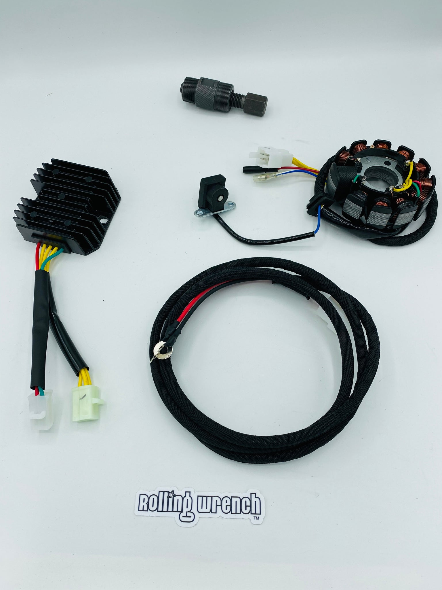 GY6 charging system upgrade kit - 8 pole to 11 pole stator