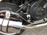 GY6 sport exhaust stainless steel