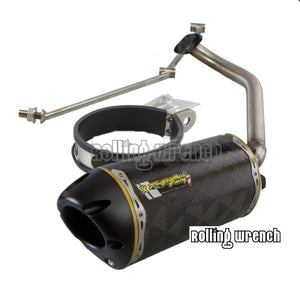 TBR GY6 Fatty exhaust pipe - CARBON FIBER