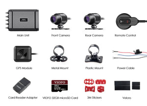 Motorcycle dash camera front and rear 1080p SONY SENSOR