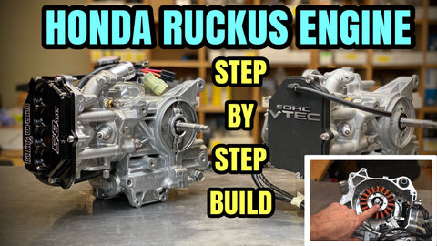 Honda Ruckus (GET)engine build: Complete step by step video