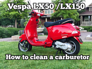 "How to clean a carburetor on a Vespa ""how to video"""