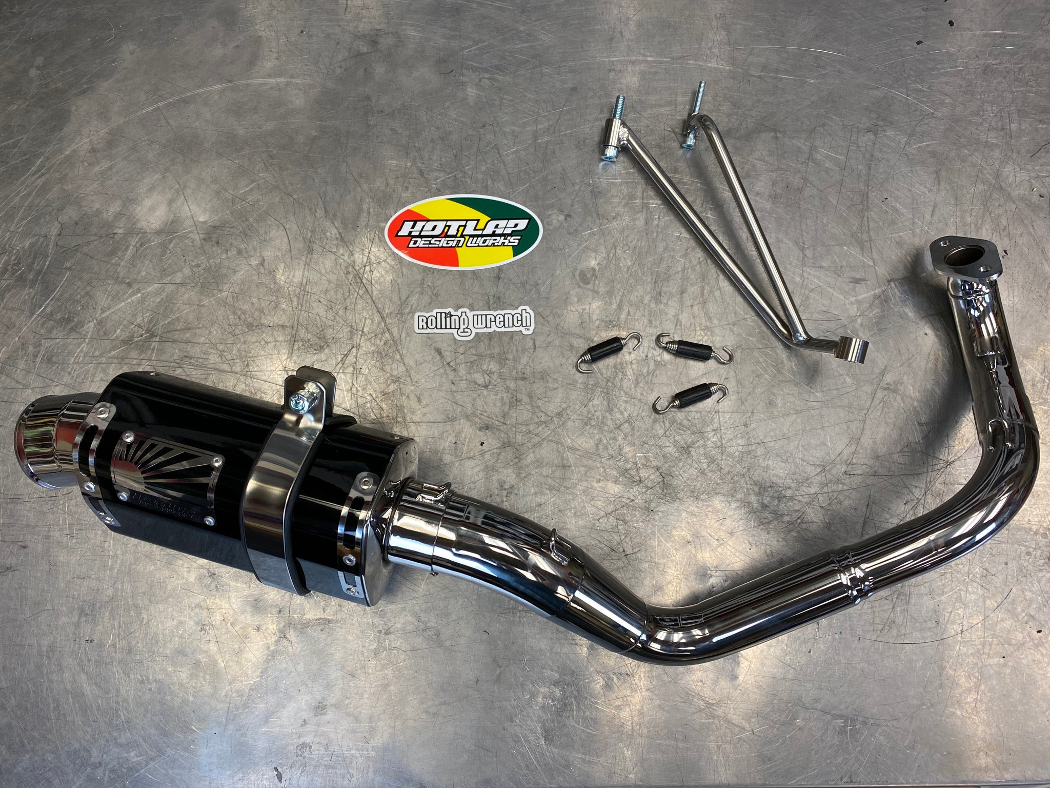 Honda Ruckus GY6 Performance fatty exhaust - HOTLAP MAMUSHI TYPE 2