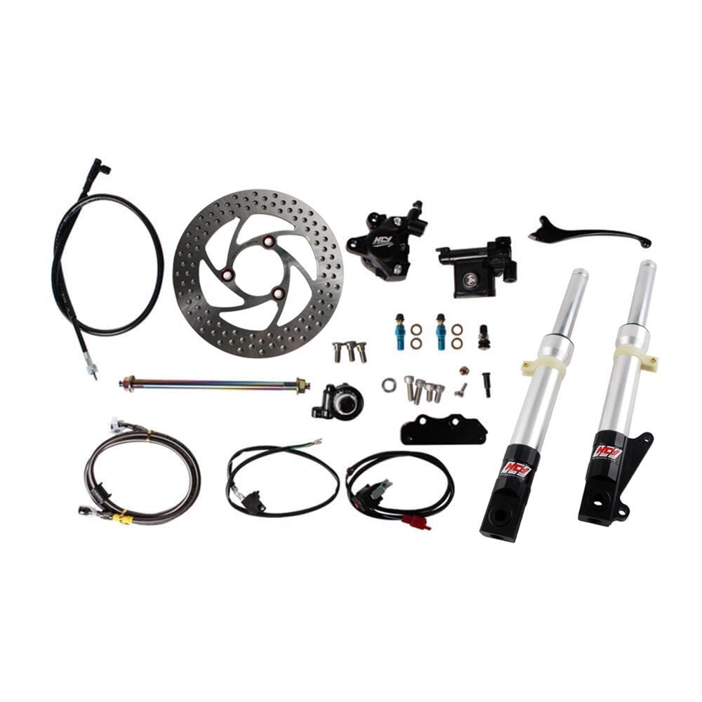Honda Ruckus complete front end with disk brakes