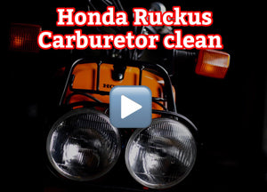 How to clean a Honda Ruckus carburetor Full HD 30 min. video