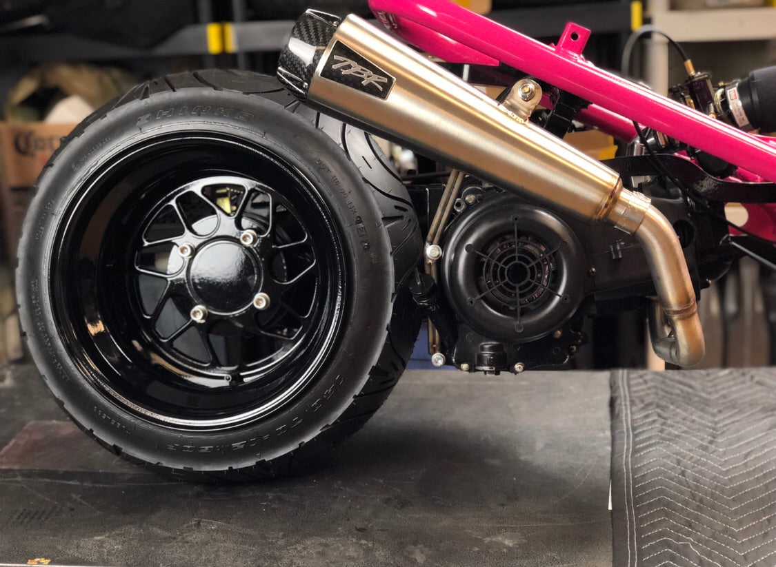 Two Brothers Racing GY6 high mount exhaust