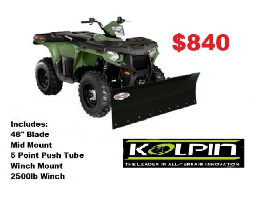 Honda Rubicon Complete ATV Snow Plow With 2500lbs Winch