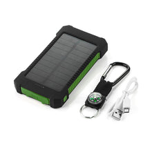 Load image into Gallery viewer, Portable Waterproof Solar Charger 10000mah Dual USB