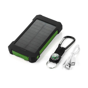 Portable Waterproof Solar Charger 10000mah Dual USB