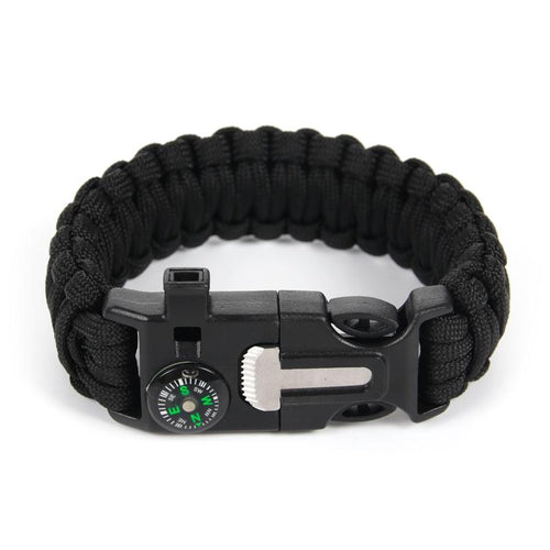 5 In 1 Flint Fire Starter Paracord Bracelet
