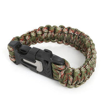 Load image into Gallery viewer, 5 In 1 Flint Fire Starter Paracord Bracelet