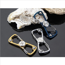 Load image into Gallery viewer, Multi-functional EDC Carabiner Fidget Spinner