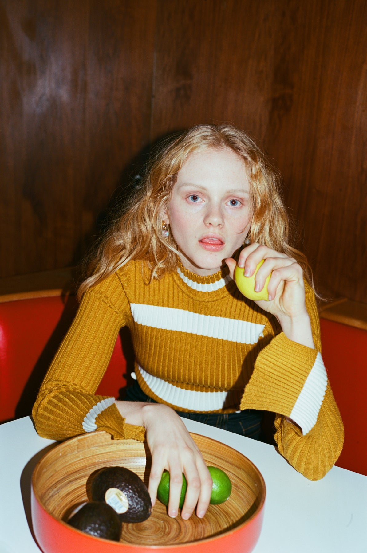 Jean Polo Neck Jumper in Mustard