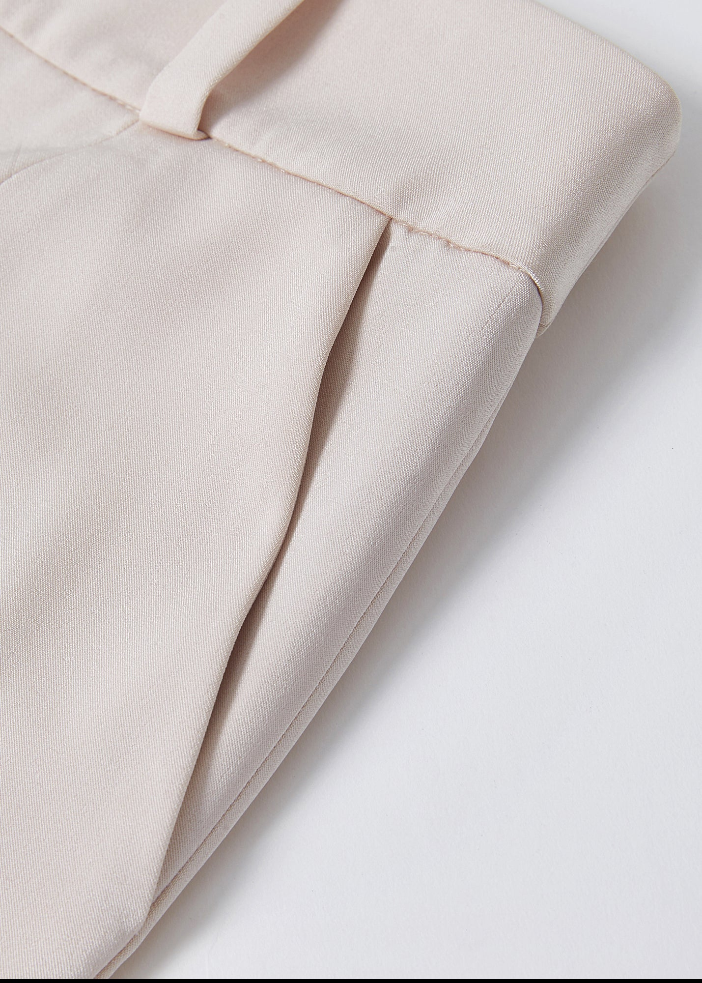 Tulipa Petal Hem Trousers in nude