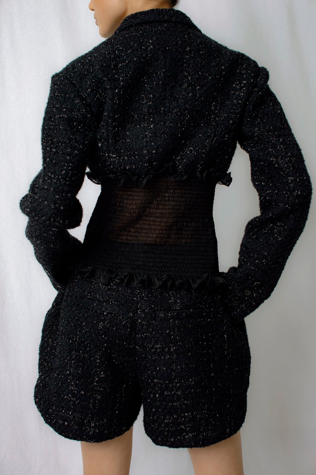 Magnolia Tweed Jacket in Black