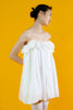 Villea Dress in White Cotton