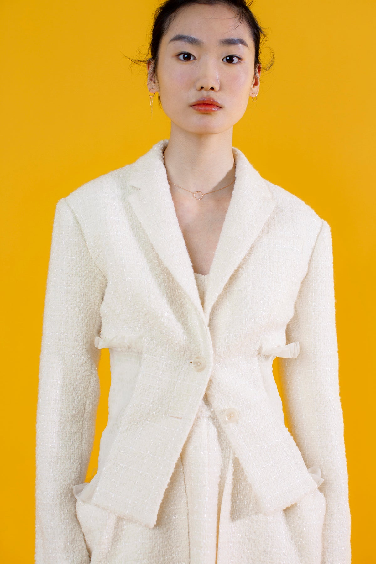 Magnolia Tweed Jacket in White